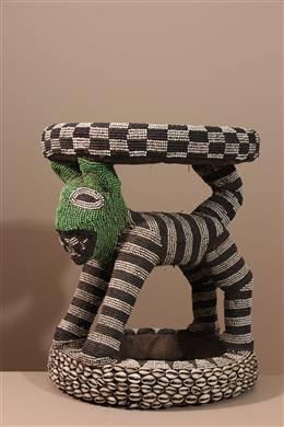 Déco africaine - Art africain traditionnel - Tabouret royal Bamileke/Bamoun