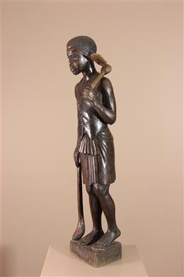 Déco africaine - Art africain traditionnel - Statue figurative Congo