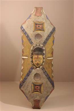 Déco africaine - Art africain traditionnel - Grand bouclier africain Yoruba