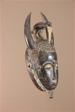 Déco africaine - Art africain traditionnel - Petit Masque Baule/Yaoure