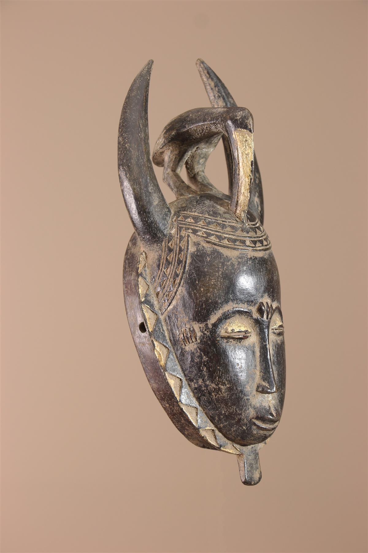 Masque Baoulé - Déco africaine - Art africain traditionnel