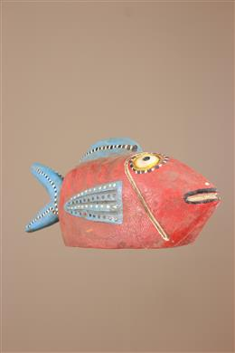 Déco africaine - Art africain traditionnel - Marionnette poisson Bozo du Mali