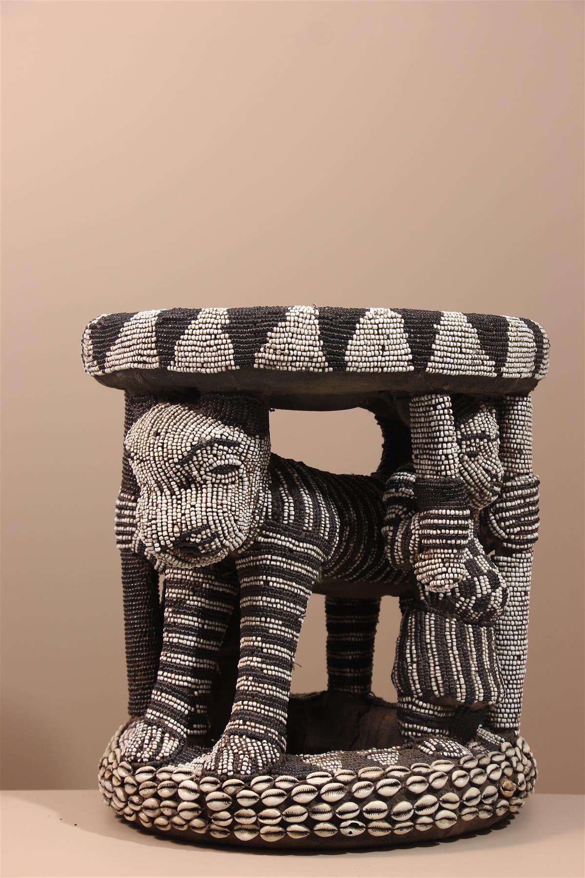 Siège Bamileké - Déco africaine - Art africain traditionnel