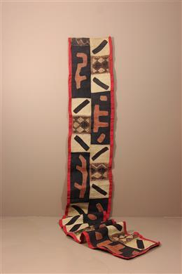 Déco africaine - Art africain traditionnel - Panneau tissé Kuba du Kasaï / Ntshak