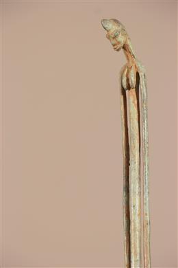 Déco africaine - Art africain traditionnel - Statue Dogon du Mali en bronze