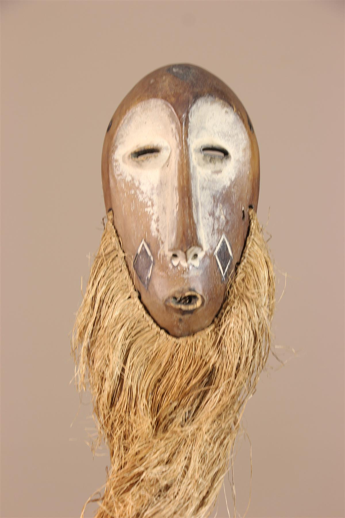 Masque Lega - Déco africaine - Art africain traditionnel