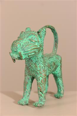 Déco africaine - Art africain traditionnel - Figure de léopard Bénin