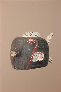 Déco africaine - Art africain traditionnel - Poisson Bozo du Mali