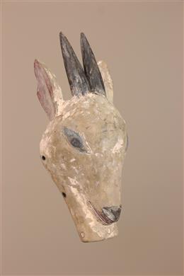 Déco africaine - Art africain traditionnel - Masquette zoomorphe Luba sur socle