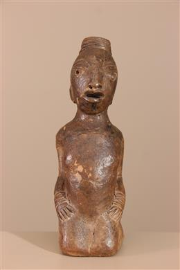 Déco africaine - Art africain traditionnel - Statuette dinspiration Nok
