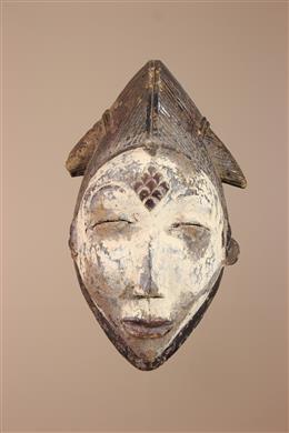 Déco africaine - Art africain traditionnel - Masque africain Punu du Gabon