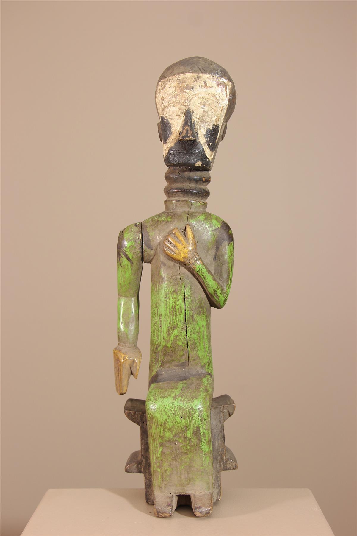 Statue Baoulé - Déco africaine - Art africain traditionnel