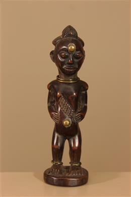 Déco africaine - Art africain traditionnel - Statuette Punu