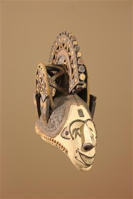 Déco africaine - Art africain traditionnel - Grand masque heaume Igbo