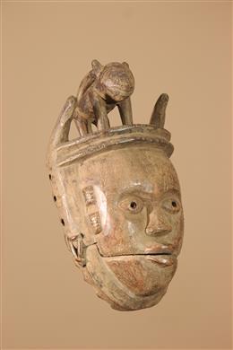Déco africaine - Art africain traditionnel - Masque Ogoni à mâchoire articulée