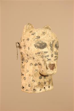 Déco africaine - Art africain traditionnel - Masque léopard Lombi du Congo