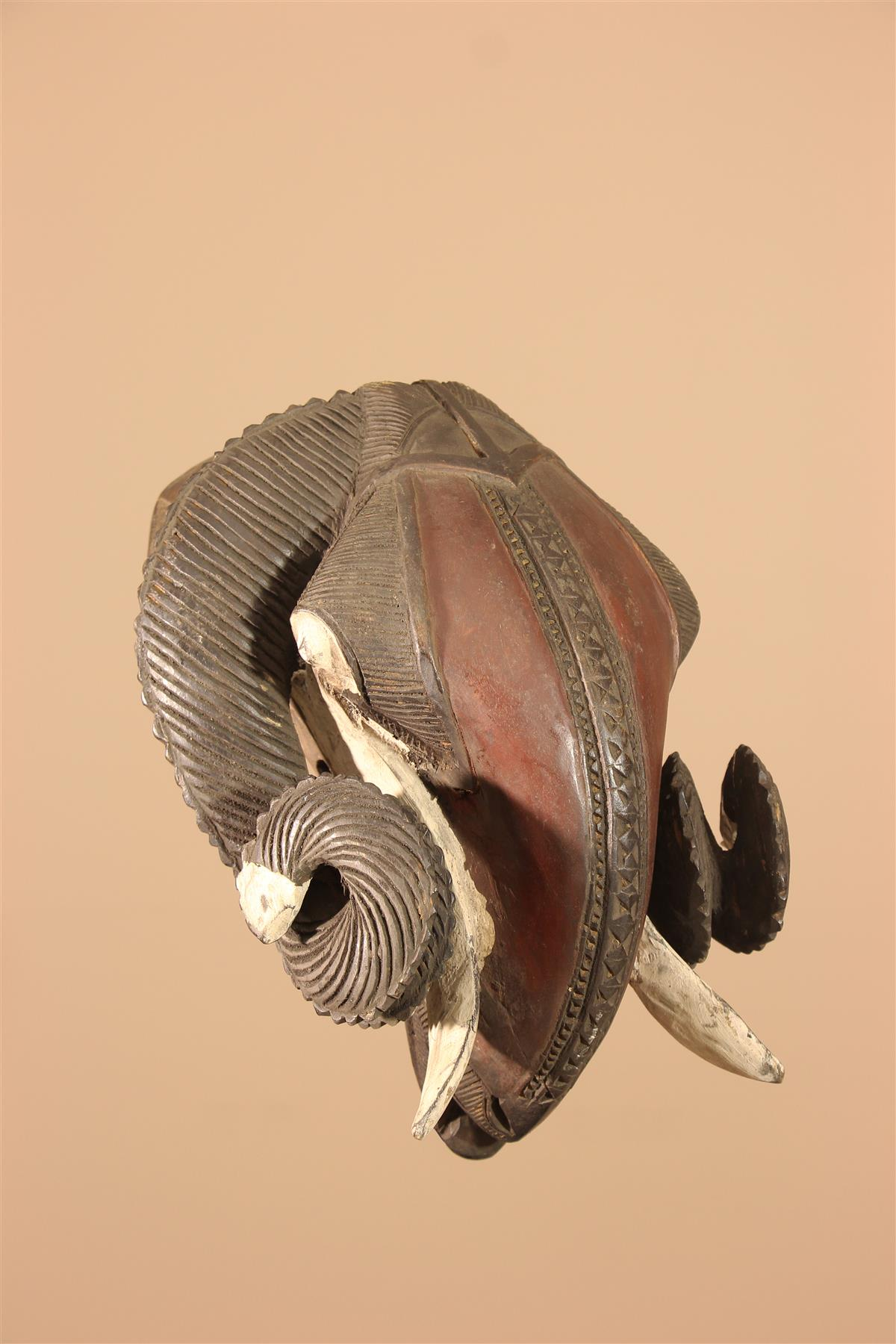 Masque Bélier - Déco africaine - Art africain traditionnel