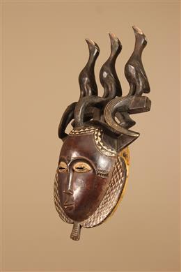Déco africaine - Art africain traditionnel - Masque Lomane Baule/Yaure