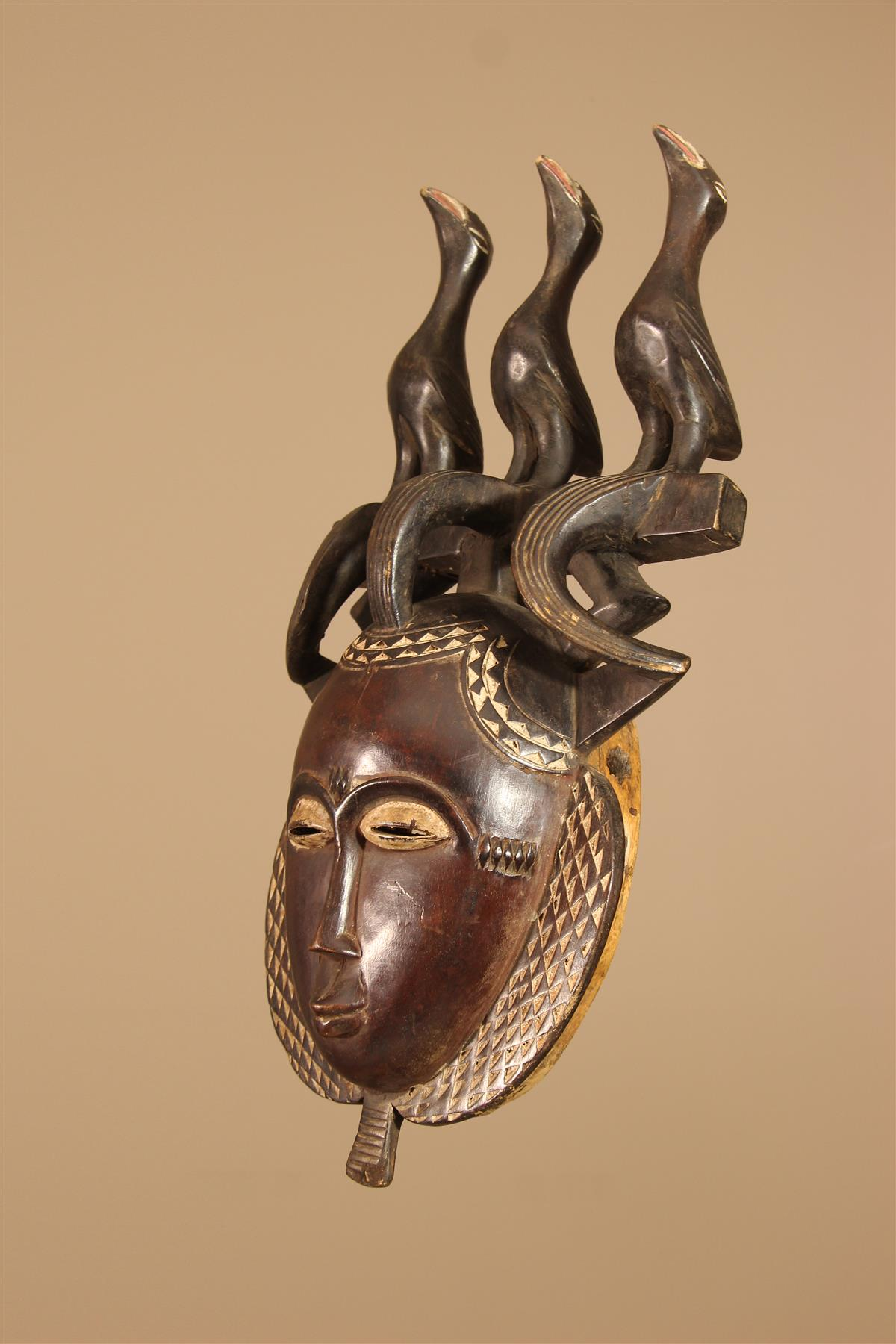 Masque Yohoure - Déco africaine - Art africain traditionnel