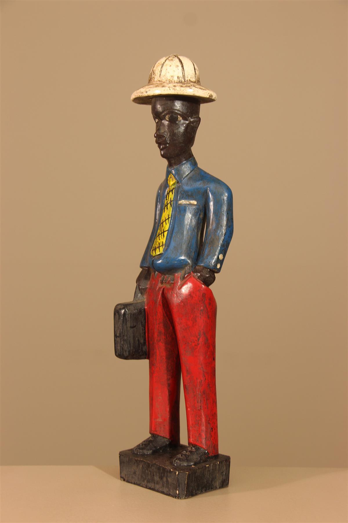Statuette Baule - Déco africaine - Art africain traditionnel