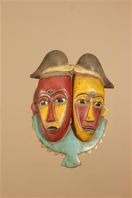 Masque double portrait Baoulé Ndoma
