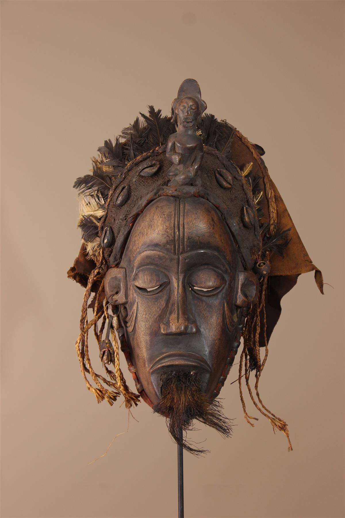 Masque Tschokwe - Déco africaine - Art africain traditionnel