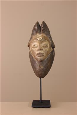 Déco africaine - Art africain traditionnel - Masquette Punu sur socle