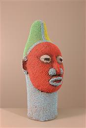 Statues africainesTête perlée