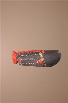 Déco africaine - Art africain traditionnel - Poisson Marionnette Bozo du Mali