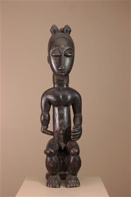 Déco africaine - Art africain traditionnel - Statue Baoulé / Attié Côte dIvoire
