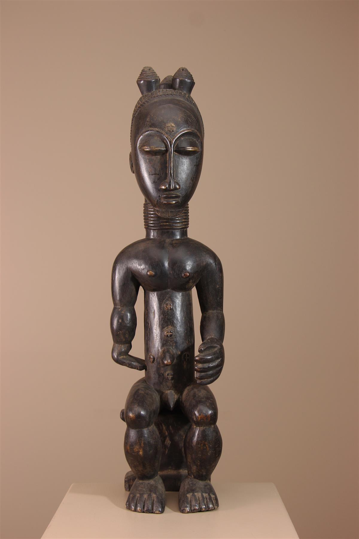 Statue Côte d'Ivoire - Déco africaine - Art africain traditionnel
