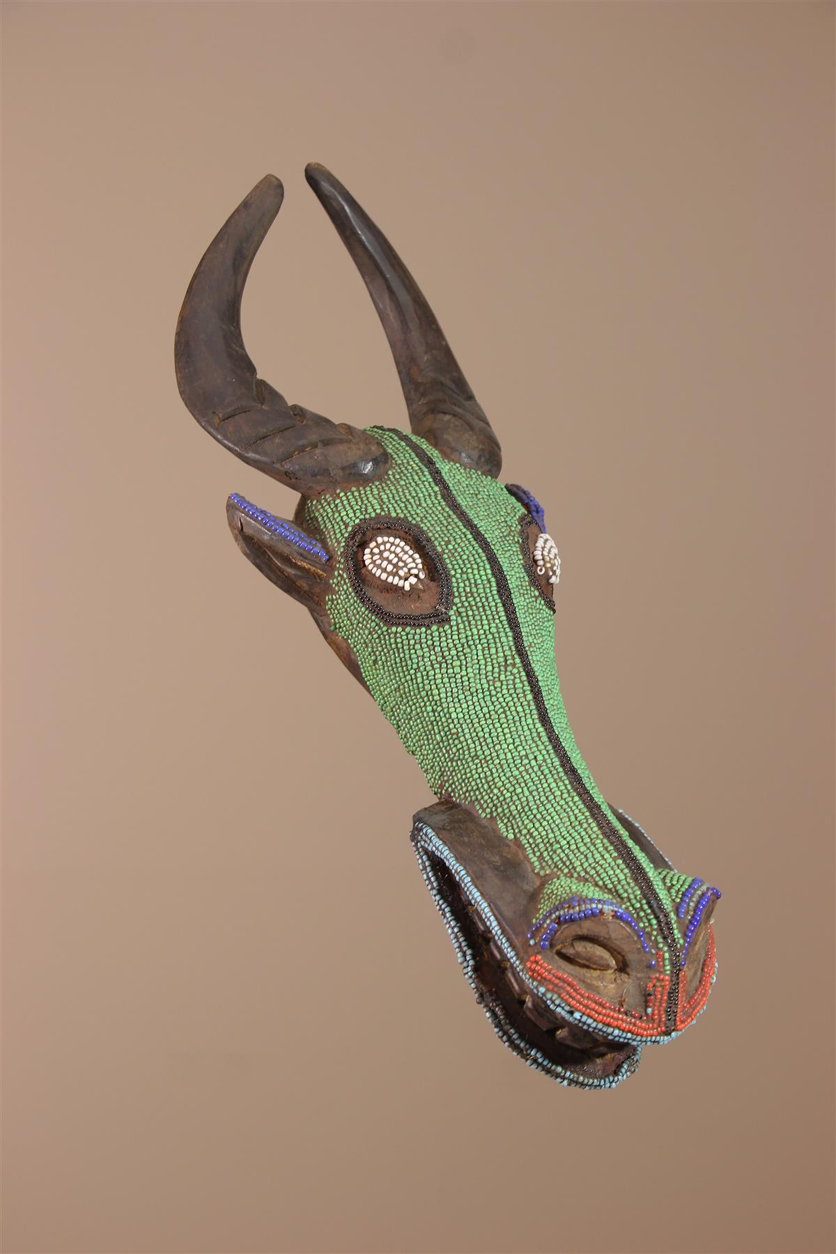 Masque Bamoun - Déco africaine - Art africain traditionnel
