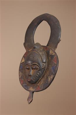 Déco africaine - Art africain traditionnel - Masque Baule / Gouro de Côte dIvoire