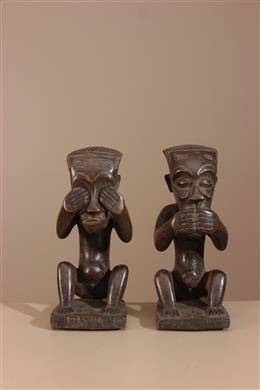Couple de statuettes Kuba Bushoong