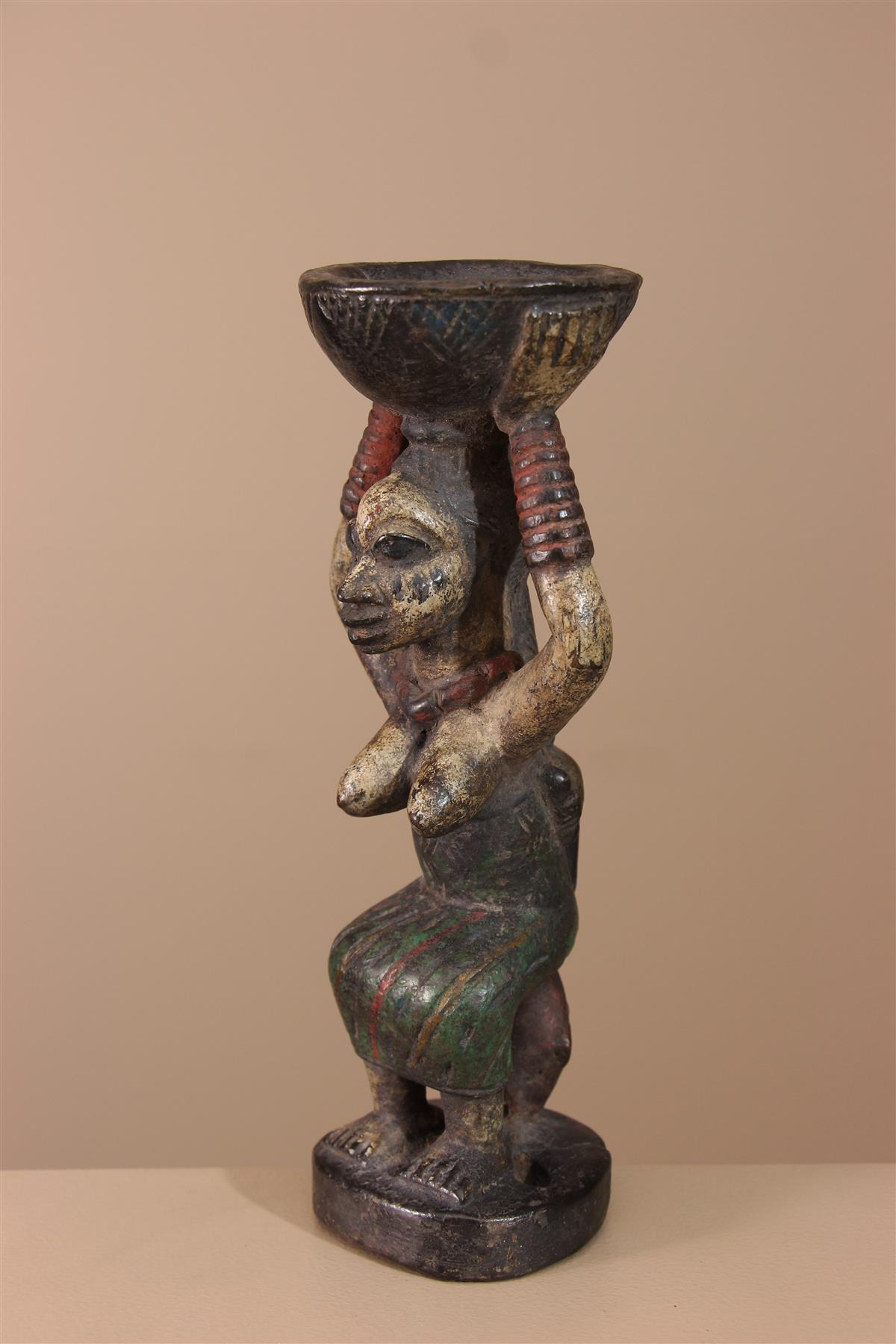 Statuette Yoruba - Déco africaine - Art africain traditionnel