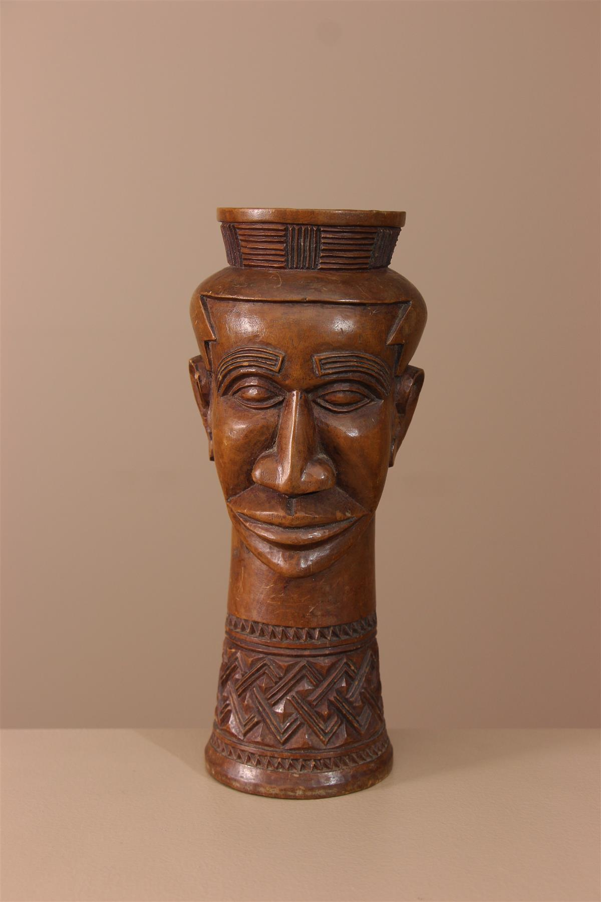 Coupe Kuba - Déco africaine - Art africain traditionnel