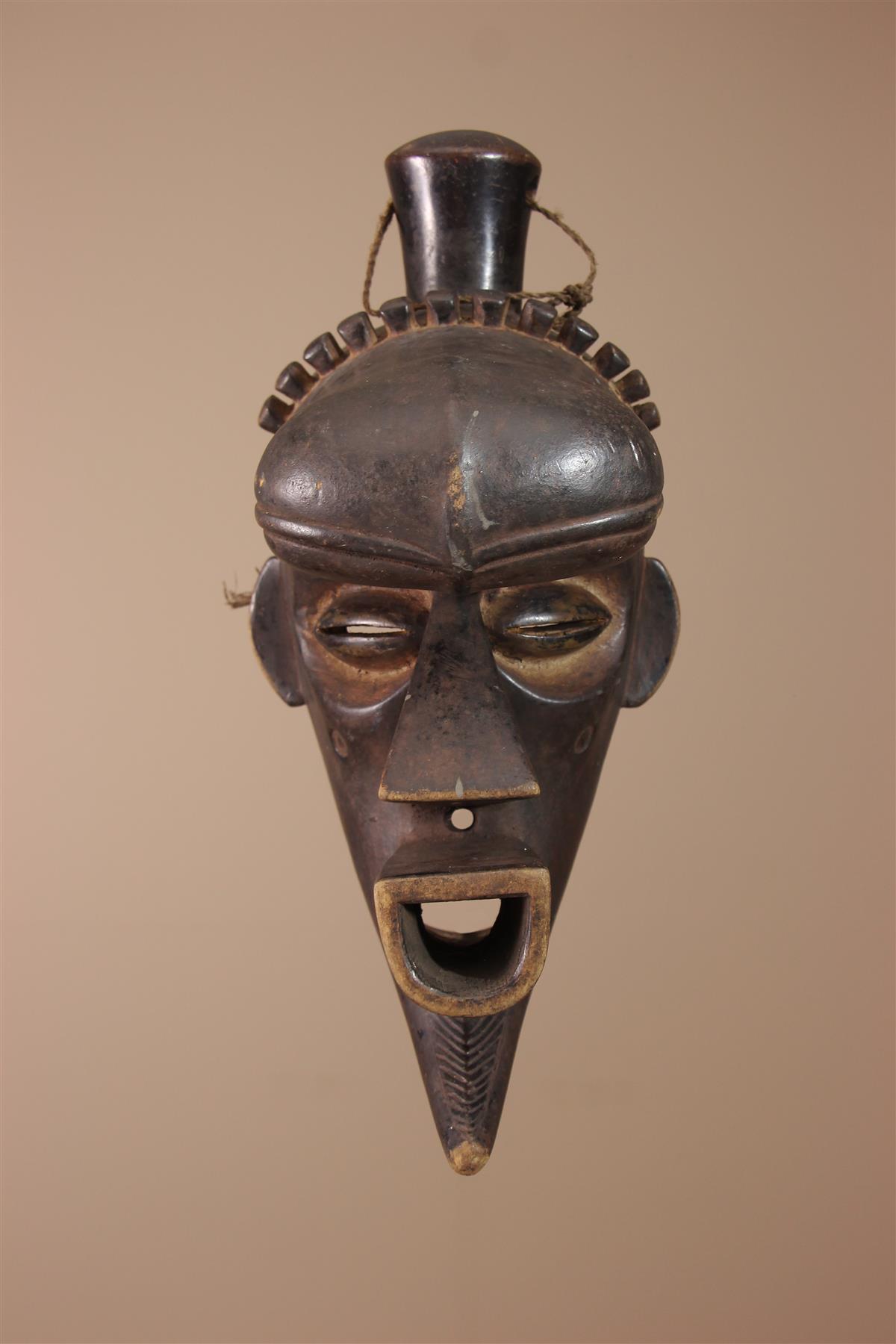 Masque Lulua - Déco africaine - Art africain traditionnel