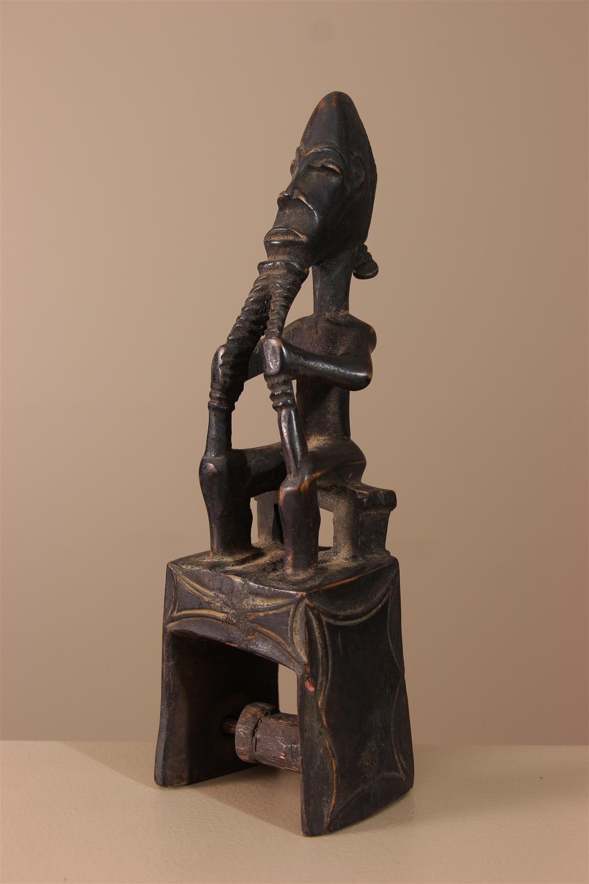 Poulie Guro - Déco africaine - Art africain traditionnel