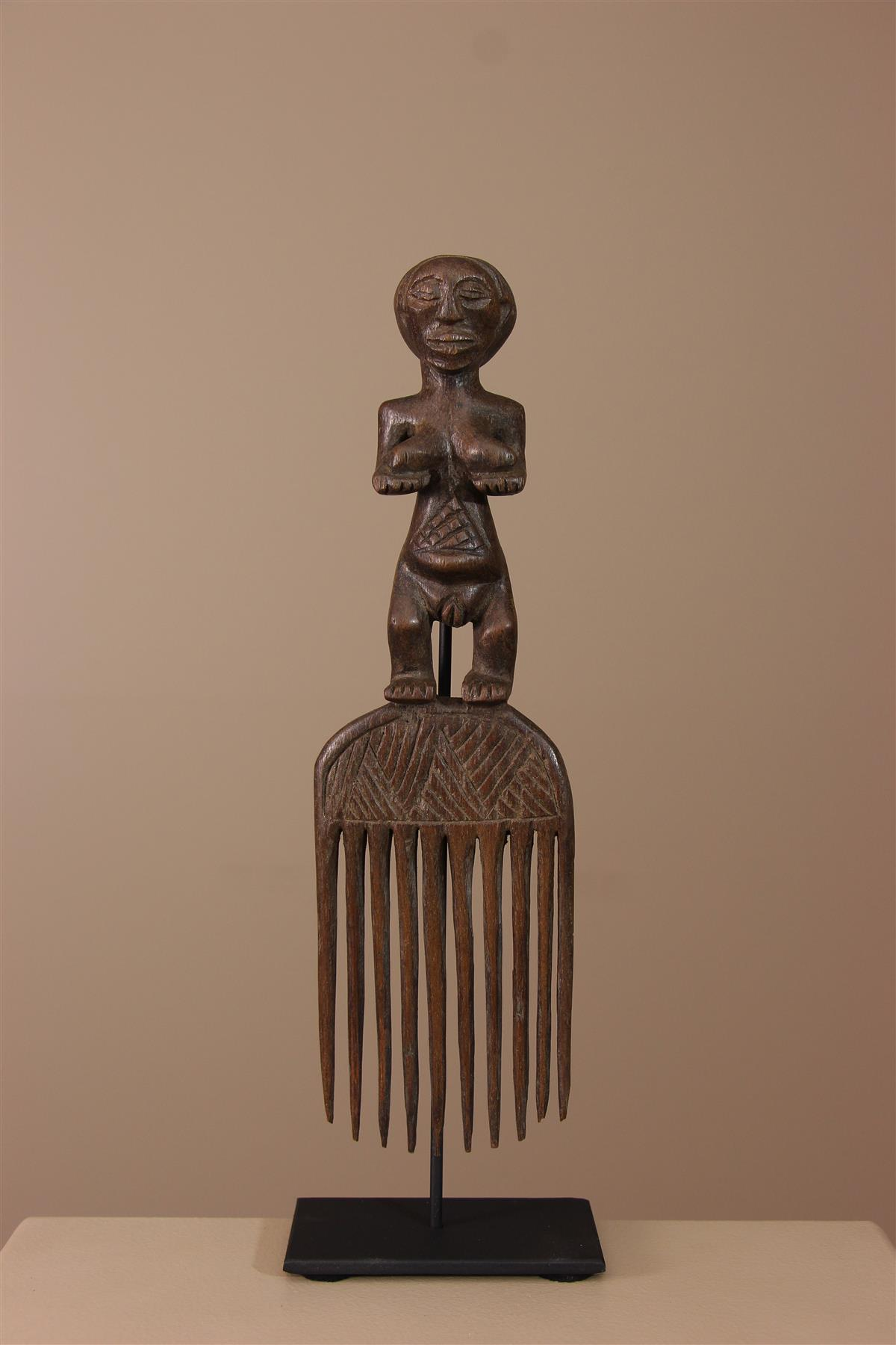 Peigne Luba - Déco africaine - Art africain traditionnel