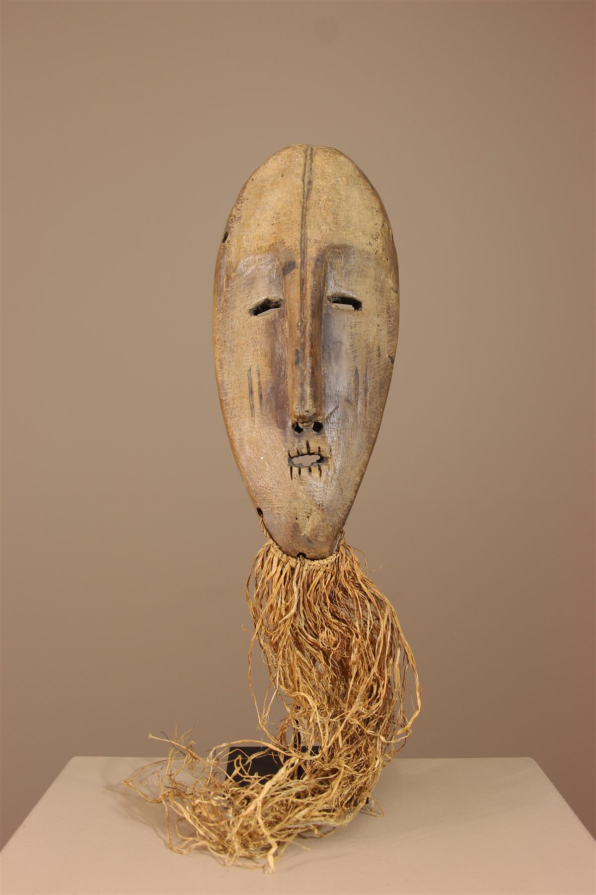 Masque Lega - Déco africaine - Art africain traditionnel
