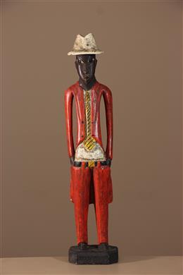 """Statuette """"colon"""" Baule, Baoulé"""