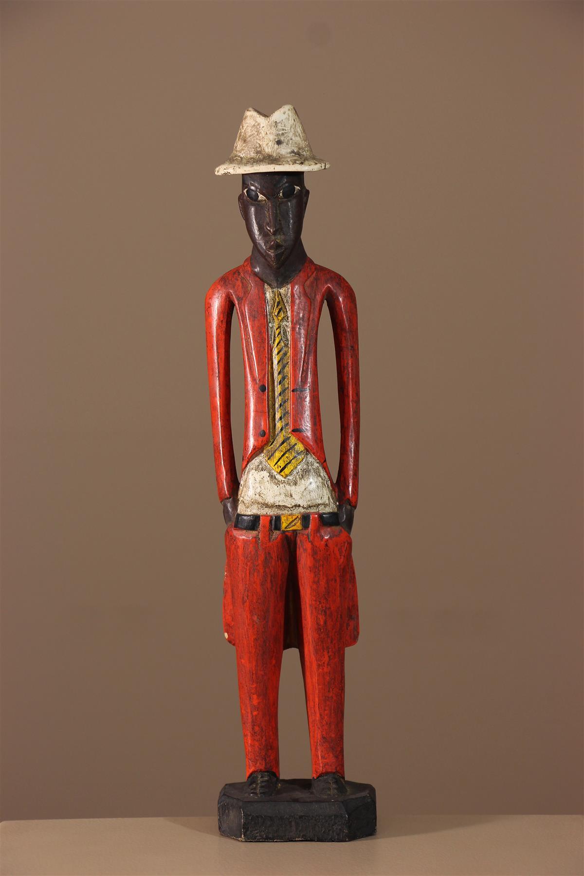 "Statue ""Colon"" - Déco africaine - Art africain traditionnel"