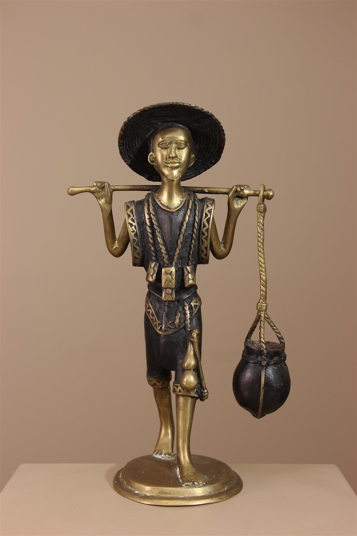 Statue Peul - Déco africaine - Art africain traditionnel