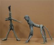 Statues africainesScène de chasse artisanat africain