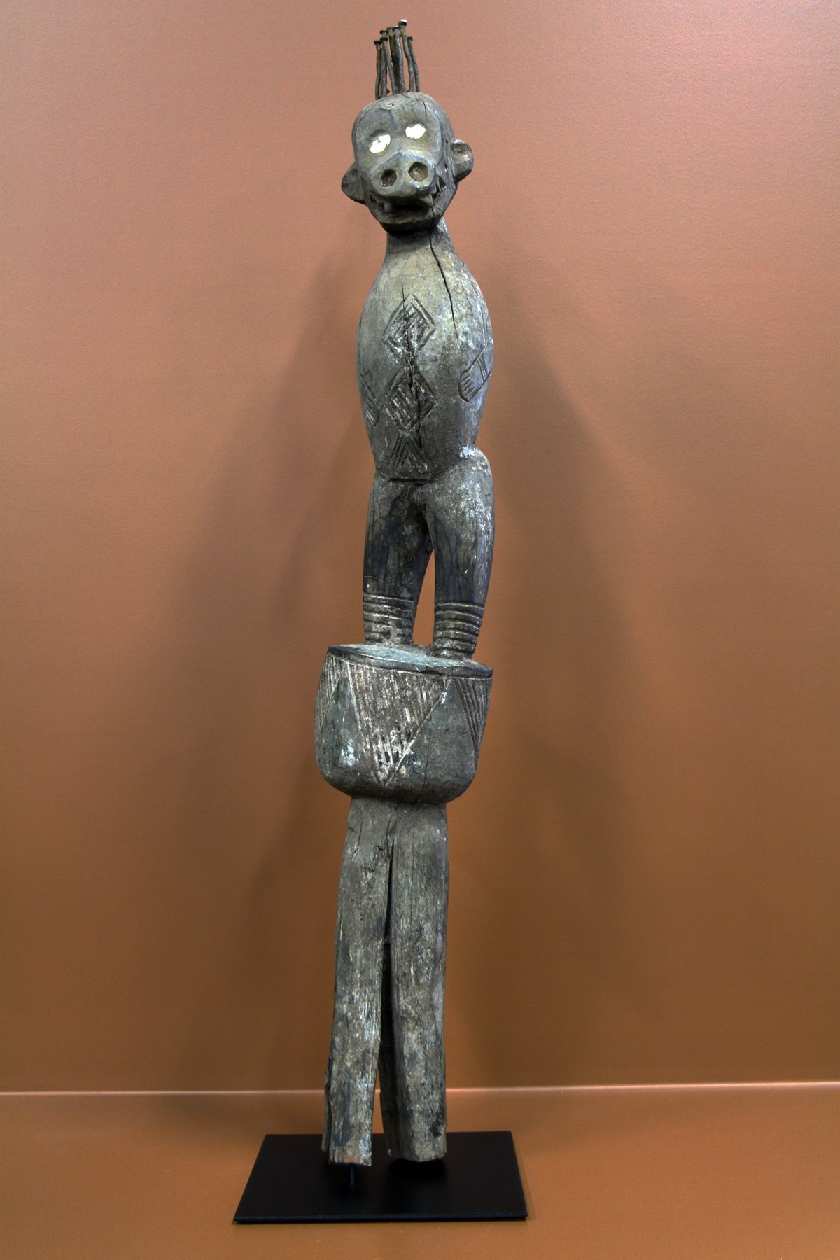 Poteau Boulou - Déco africaine - Art africain traditionnel
