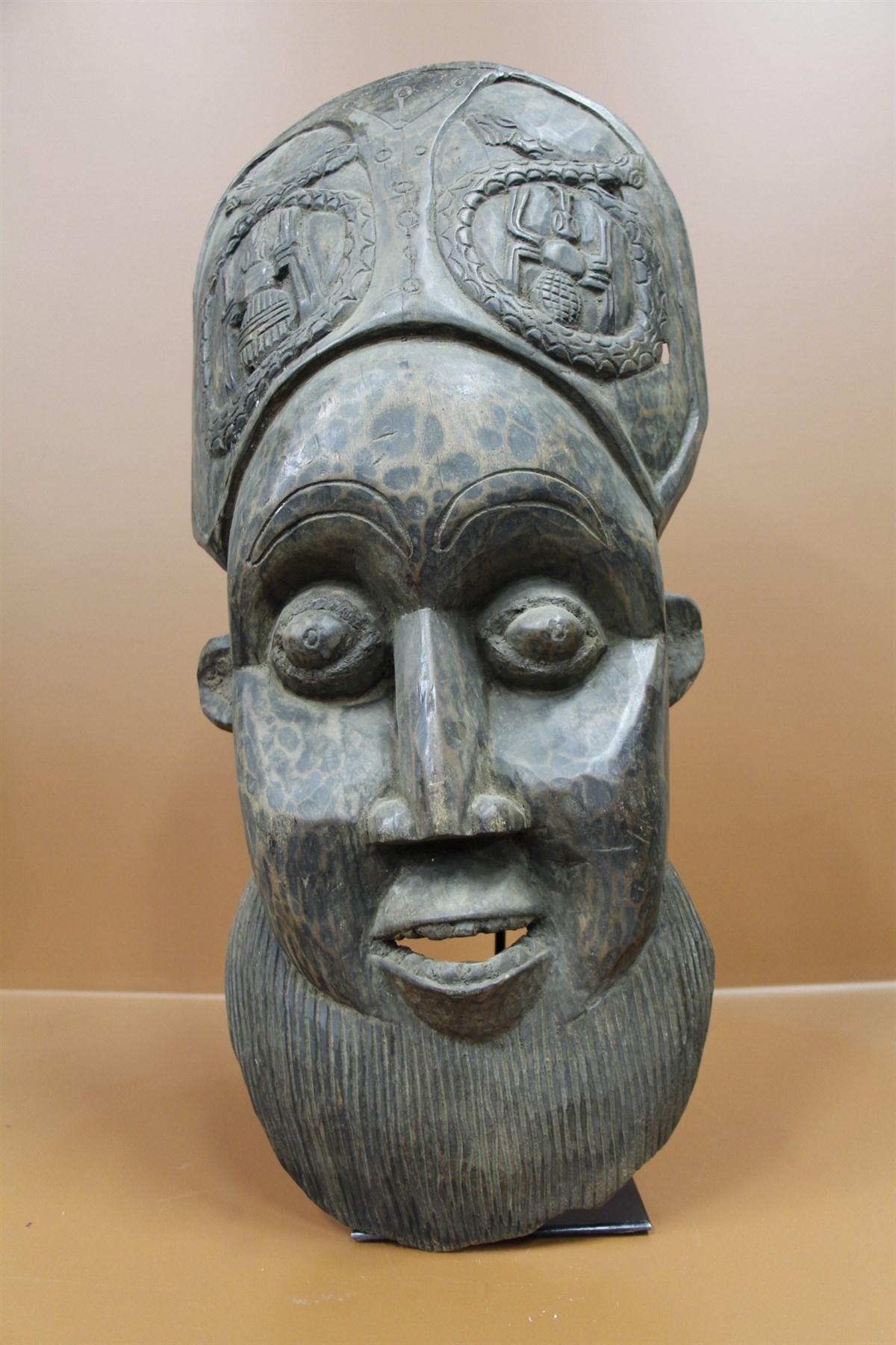 Masque Bamiléké - Déco africaine - Art africain traditionnel