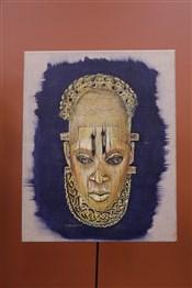 Masque africainHuile sur toile d inspiration art africain