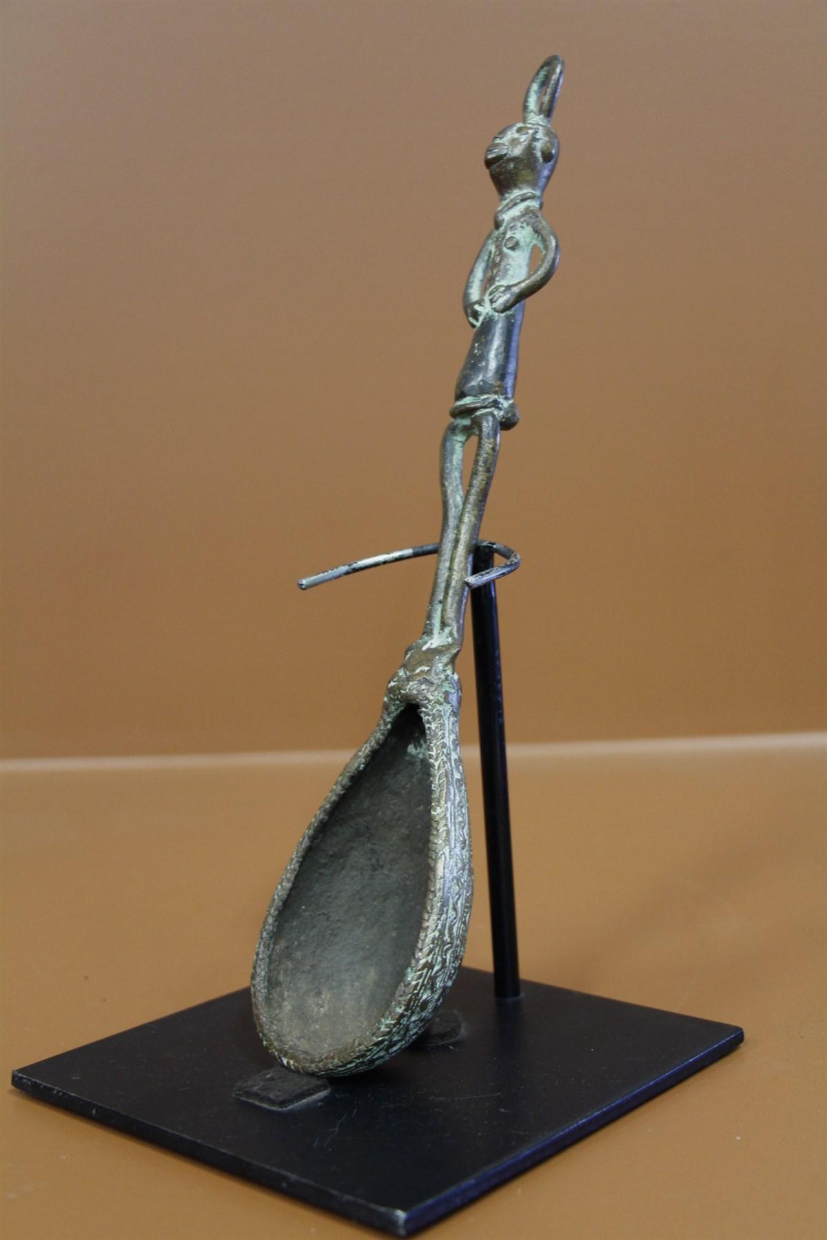 Cuillère en bronze africain Tikar