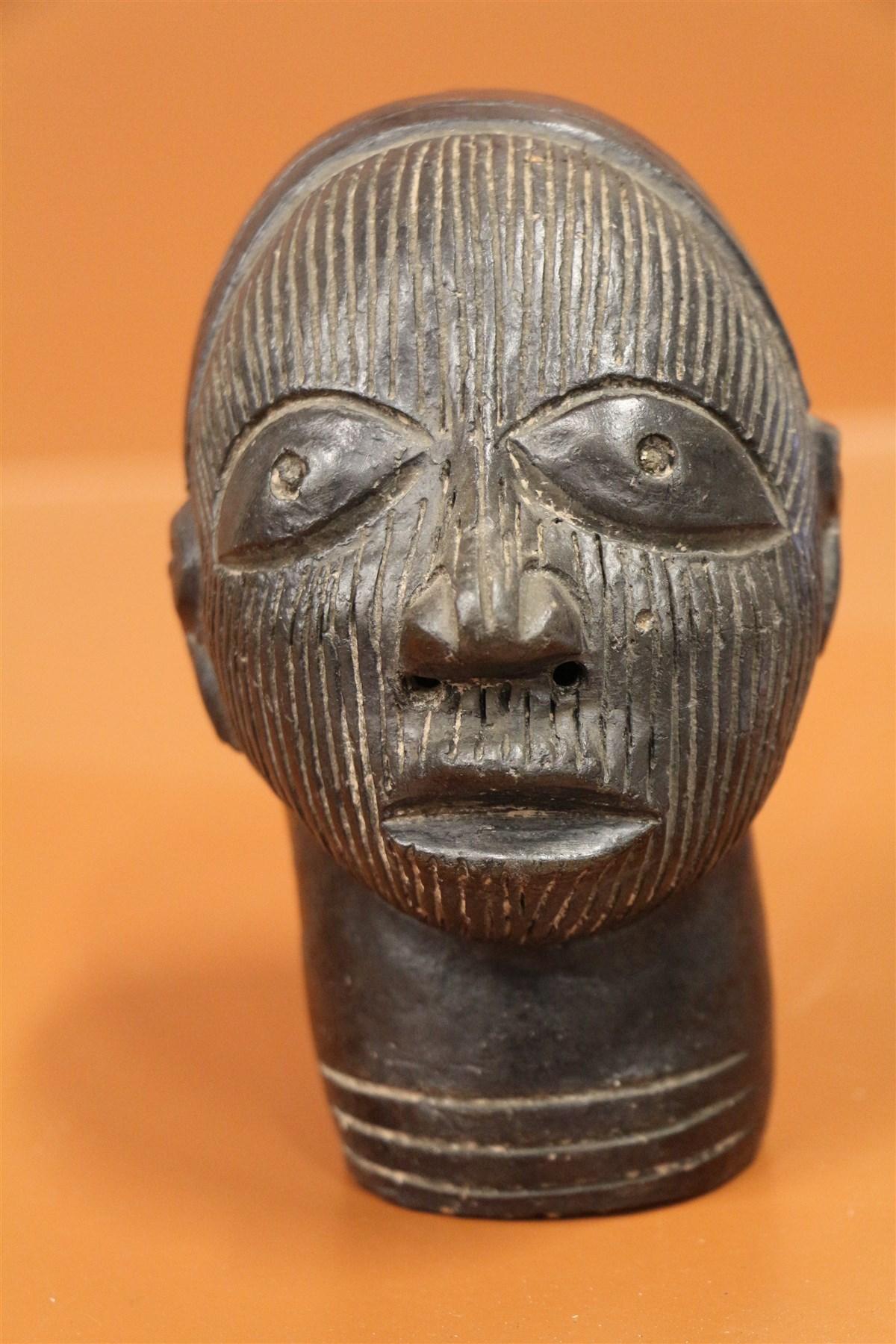 Tête Oni Ifé - Déco africaine - Art africain traditionnel