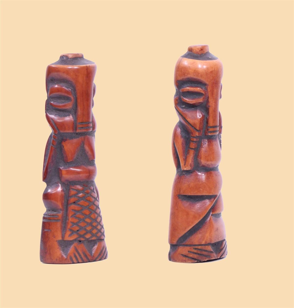 Couple Bamileke - Déco africaine - Art africain traditionnel
